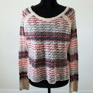 B2G1 NWT M. Rena Multicolor Striped Crop Sweater